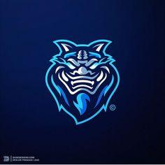 #mascot #esports #blue #logo Logo Process, Sports Team Logos, Love Logo, Shield Logo, School Logo, Logo Sticker, Art Logo, Business Logo, Logo Design