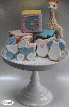 Cake Decorating Ideas | Project on Craftsy: Baby Shower Cookies