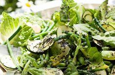 Grön sallad – perfekt till falafel! Falafel, Squash, Green Beans, Healthy Eating, Low Carb, Fresh, Vegetables, Food, Beautiful