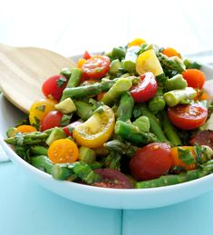 Asparagus & Tomato Salad | Haute & Healthy Living
