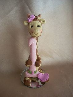 giraffe cake topper by clayqts on Etsy, $25.95