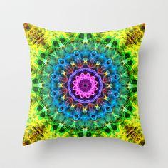 Mandala Throw Pillow by Zandiepants - $20.00