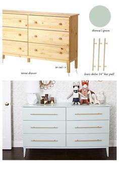 Restoration Hardware Bedroom, Diy Furniture Restoration, Diy Furniture Redo, Refinished Furniture, Furniture Ideas, Ikea Tarva Dresser, Dresser Refinish, Dresser Drawers, Ikea Dresser Makeover
