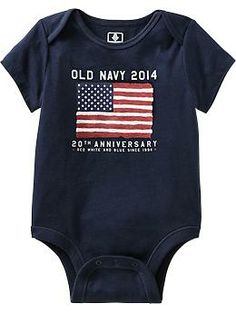 Flag Graphic Bodysuits for Baby
