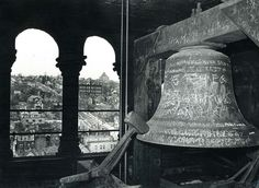 old pictures of duluth | The graffiti-covered bell at Old Central High School in an undated ...