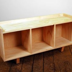 Large Storage Bench   Etsy Large Storage Bench, Wood Stain Colors, Storage Spaces, Teak, Small Spaces, Furniture, Home Decor, Decoration Home, Room Decor