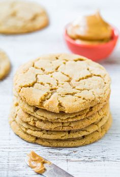 chewy peanut butter crinkle cookies - these sound sublime! must try them.