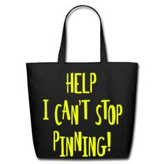 HELP I CAN' STOP PINNING!  TOTE - NEON YELLOW