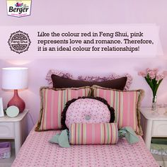 Looking to rekindle some lost love? Well, suggests that you add colour pink to your room to warm up hearts! Feng Shui Tips For Home, Toddler Bed, Hearts, Lost, Warm, Colour, Red, Pink, Furniture