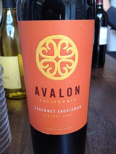 Avalon Cabernet Sauvignon- One of my new favorites.
