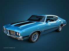 1972 Oldsmobile 442 W30 - love the color. Black and blue always looks good on a car.