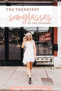 Sunglasses are such a staple for summer style and fashion, check out this list of the best sunglasses for the upcoming summer months and tips on how to style them! #sunglasses #summerstyle #summerfashion #fashionblogger #fashionblog