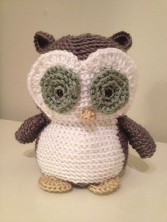 handmade crocheted stuffed owl