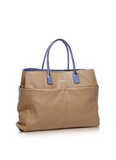 Francesco Biasia Concorde Camel Leather Tote