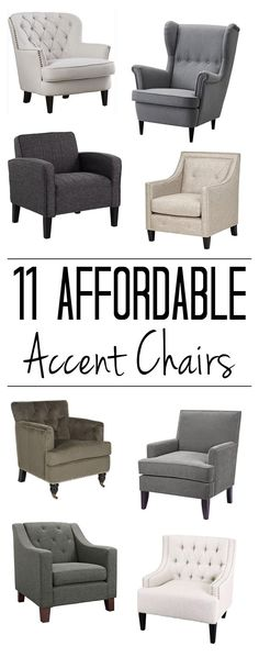 Click For Sources To 11 Cheap Accent Chairs Including The 8 Shown Here I Cant Believe Prices On Some Of Them