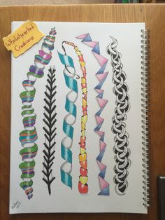 nice way of creating new forms of doodles and zentangles