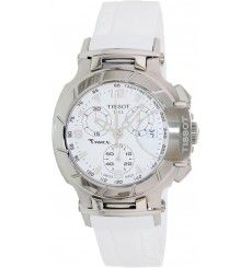 1e828ed19 Tissot Women's White Dial T Race Watch Featuring classic chronograph  styling with a contemporary aesthetic, this Tissot watch is the