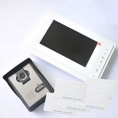 This video door phone consists of an interior unit with 7 inch color TFT-LCD screen, and hand-free interphone, with exterior station which makes it possible to see and talk to visitors who ring the bell. Max distance between Interior unit and exterior unit is 100m (RVV4*1.0).