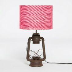 Walter G Pink Stripe Indian lantern