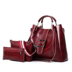 Women Faux Leather Three-piece Set Handbag Shoulder Bag Clutch Bag is designer, see other popular bags on NewChic. Burgundy Handbags, Clutch Bag, Tote Bag, Crossbody Bags, Zipper Bags, Business Casual, Leather Handbags, Pu Leather, Bag Accessories