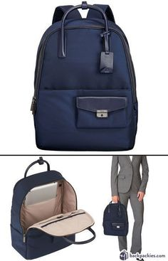 Tumi Larkin Portola convertible backpack for women - The best women's backpacks for work and business - Learn more: https://backpackies.com/blog/best-womens-backpacks-for-work/#tumi2 #mbaforwomen #mbacareers