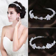 New Fashion Bridal Frosted Flower Pearl Headband Hairwear Headdress Party