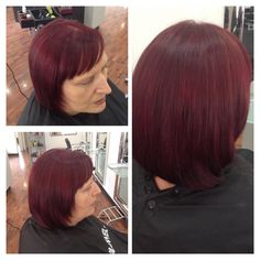 rich red a ready for autumn, with the new range of red colours Kellie created this amazing red using the new eliminated reds from goldwell