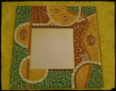 Mirror - green and brown... CINQUE MOSAICS