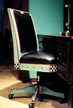 Mackenzie-Childs inspired chair redo