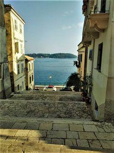 Corfu old town, Mouragia. and the smal island Vidos. Corfu Greece, Mykonos Greece, Athens Greece, Santorini, Greece Tours, Greece Travel, Places To Travel, Travel Destinations, Greece Outfit