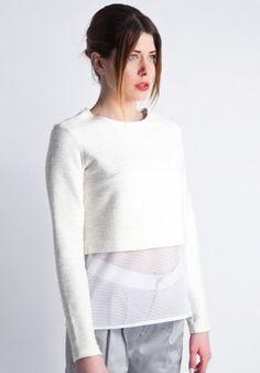 Sweatshirt - White/mesh BUY IT NOW ON www.dezzy.it!