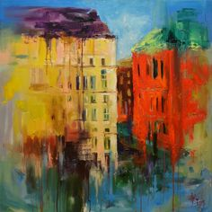 Houses, Oil painting by Zhanna Kondratenko | Artfinder