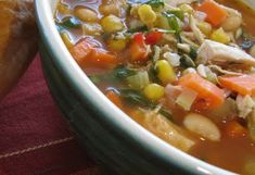Hearty Healthy Chicken Soup-- I would love to make a big batch of this and freeze some, easy to defrost for something quick to eat & healthy :)