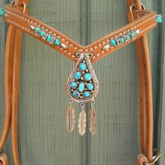 Turquoise head stall. I love this so much. ALL I EVER WANT