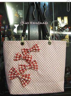 sweet ribbon tote! Ribbon, Tote Bag, Sweet, Handmade, Bags, Fashion, Tape, Candy, Handbags