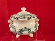 Rippled Ribbon Band Child's Toy China Sugar Bowl, c. 1861, $59