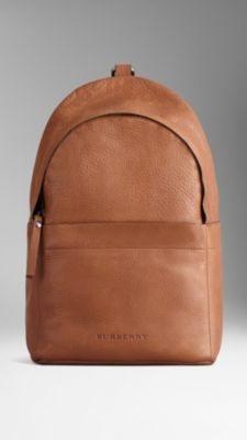 Grainy Leather Backpack