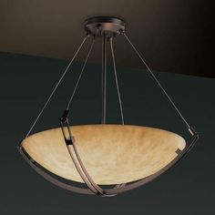 60-Inch Bowl Pendant with Crossbar
