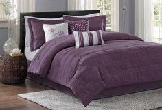 Plum bedspread at Wayfair