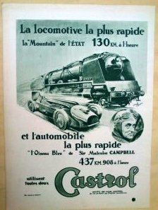 Art Deco Vintage French Ad  Castrol Motor Oil by reveriefrance