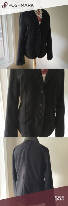 JCREW chocolate blazer NWT- chocolate blazer by JCREW! The color is a deep chocolate brown and works as a great staple wardrobe piece! Great for layering as it is cotton so not too heavy and cotton! Very figure flattering! J. Crew Jackets & Coats Blazers
