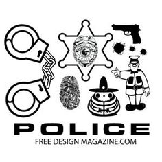 Designs of Police Silhouettes | Vector & Clipart Free Download