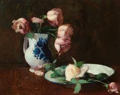 Emil Carlsen Still Life with - Roses (also called Still Life, Roses), c.1875