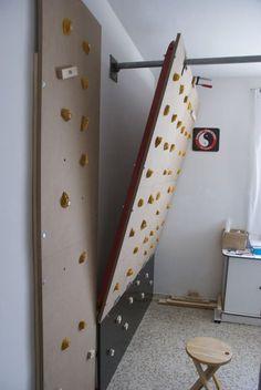 Rocodromo casero. Construcción de un rocódromo casero simple pero muy útil. Este tipología de rocódromo sería de fácil construcción en un centro escolar