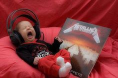 LOUDERRRR! Parenting done right =). #Baby #Metallica #headphones