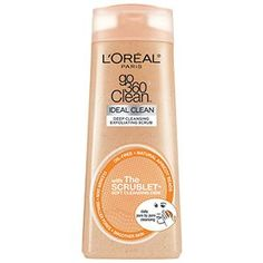 Go 360 Clean Deep Exfoliating Scrub facial cleanser skin care by L'Oreal Paris. Oil-free foaming cleanser scrub cleans pores & removes oil & makeup while smoothing skin.
