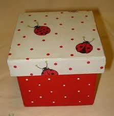 Resultado de imagen para Cajas con Decoupage Decoupage Box, Sewing Box, Keepsake Boxes, Ladybug, Decoration, Crochet, Diy And Crafts, Decorative Boxes, Diy Projects