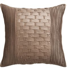 £18.00  Square lattice weave cushion.  http://www.beddingworld.co.uk/p/This_Morning_Lattice_Square_Cushion_in_Natural.htm