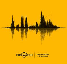 This cover art for Firewatch's soundtrack is really clever and well done, with the Wyoming wilderness (the setting of the game) doubling as a soundwave