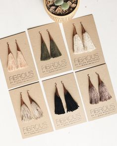 Fibrous : colourful tassel earrings